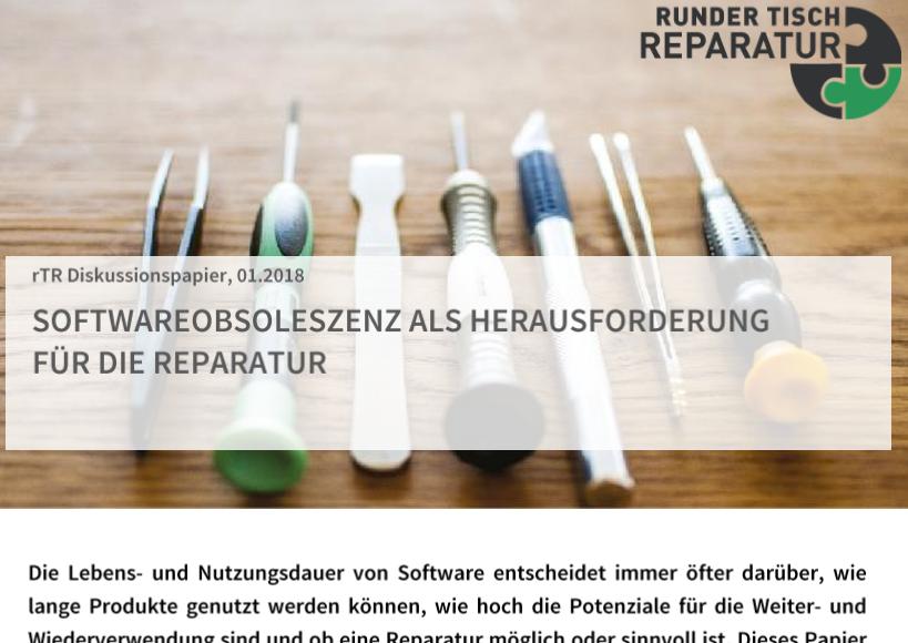 Diskussionspapier: Softwareobsoleszenz als Herausforderung für die Reparatur