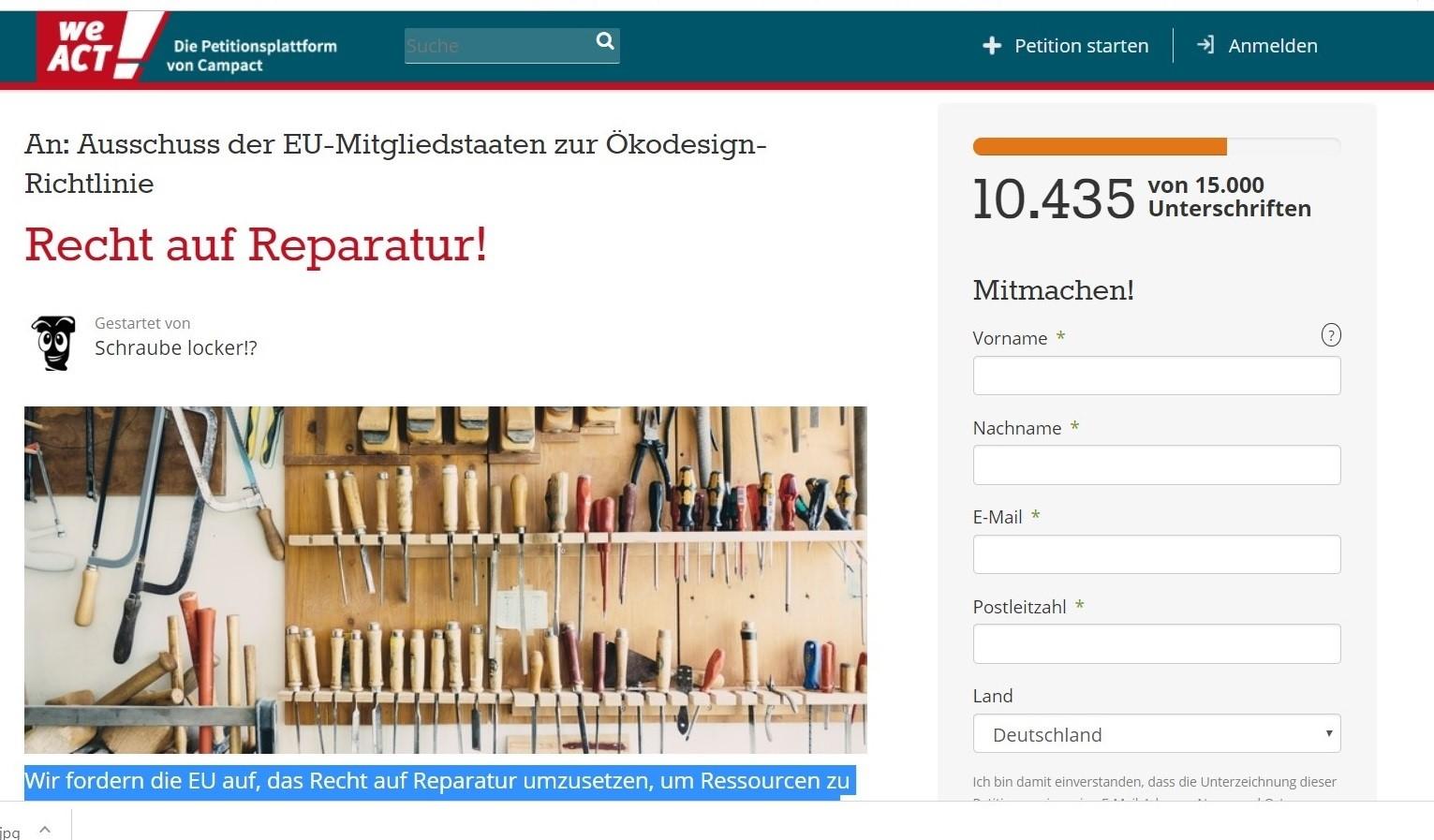 https://weact.campact.de/petitions/recht-auf-reparatur?bucket=ue-18-10-17&source=ue-18-10-17
