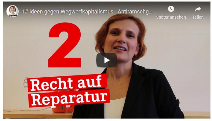 Katja Kipping fordert Recht auf Reparatur