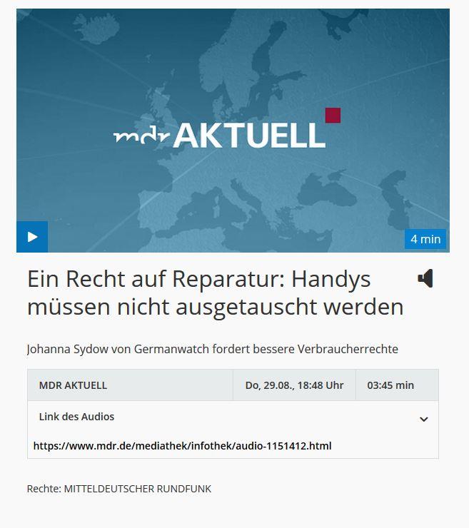 Handys müssen nicht ausgetauscht werden: Recht auf Reparatur bei mdr aktuell