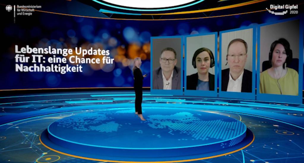 Lebenslange IT-Updates: Johanna Sydow beim IT-Gipfel der Bundesregierung