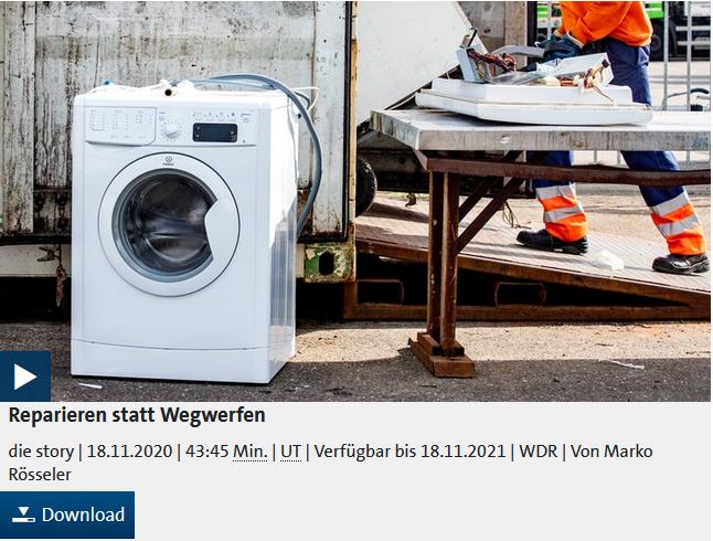 Reparieren statt Wegwerfen: WDR Die Story